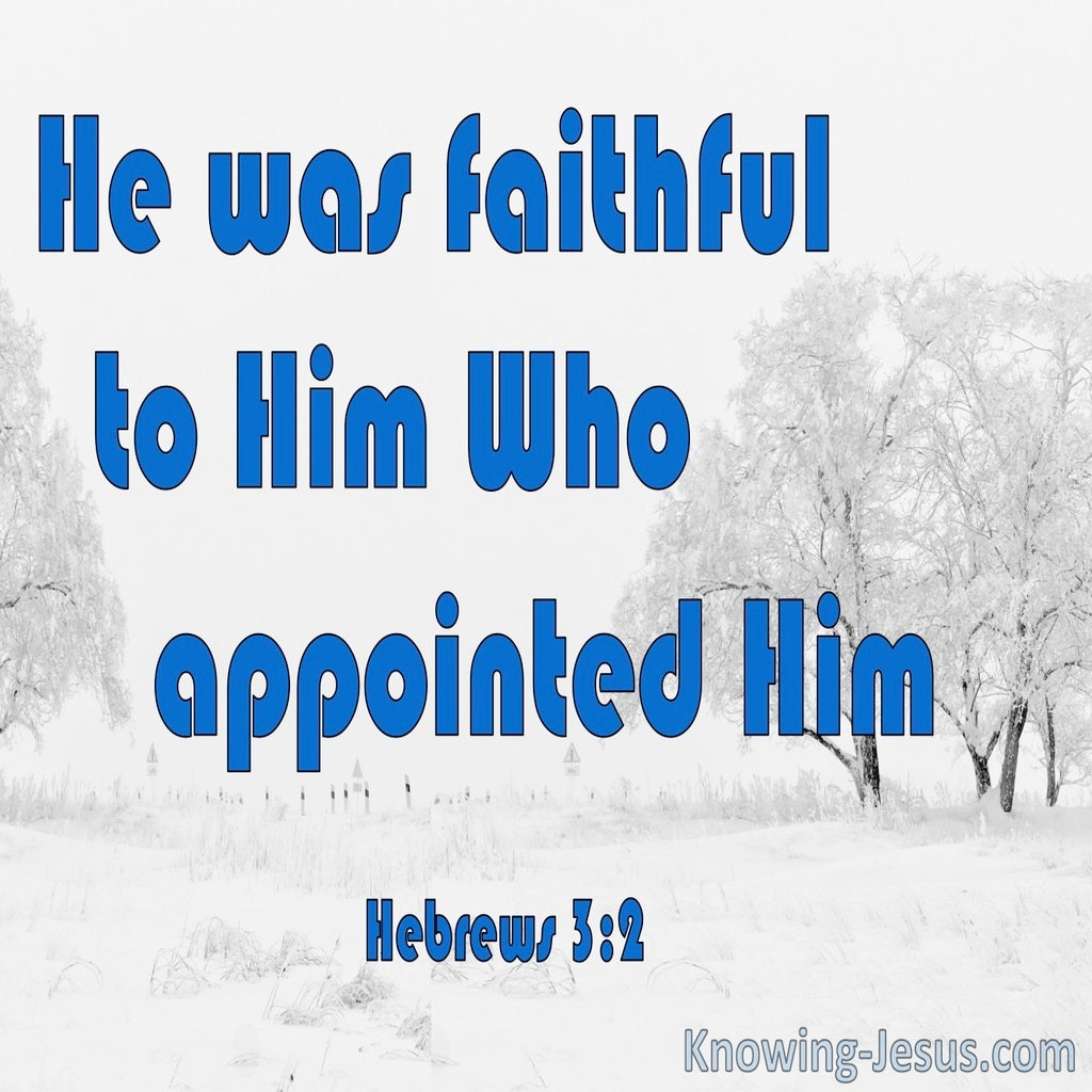 Hebrews 3:2 He Was Faithful Like Moses (white)